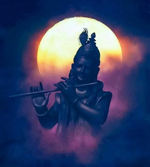 Black Krishna Murti Hd Photo Images