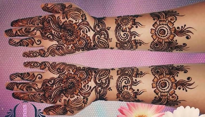 Both Front Full Hand Mehndi Design Pic Download
