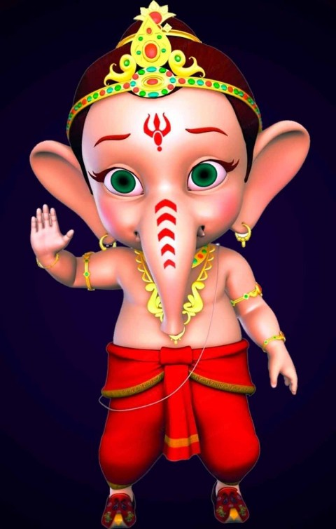 Cute Baby Lord Ganesha wallpaper Download