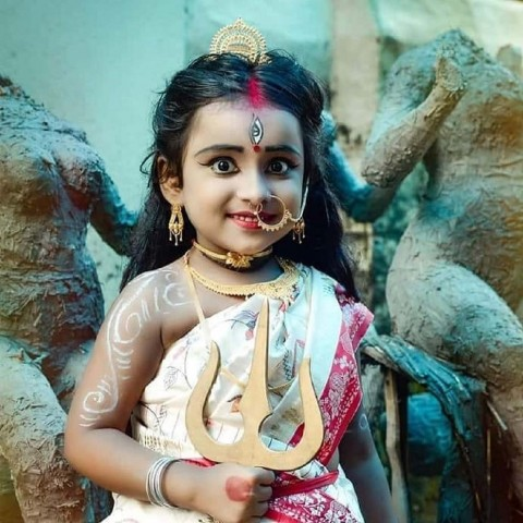 Cute Baby Maa Durga Images Photo ic