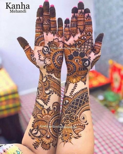 Front Hand Mehndi Design For Diwali