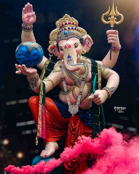 Ganesha Ji Images With Earth Images