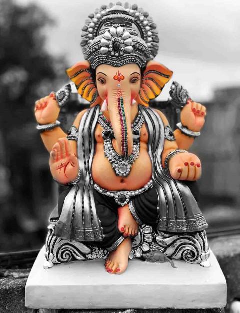 God Ganpati Ganesha Hd Murti Wallpaper Photo