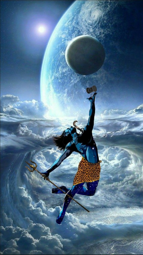 iPhone Angry Lord Shiva Wallpapers Photos
