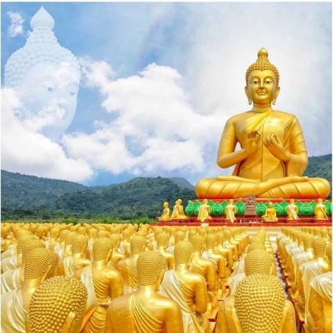 Lord Buddha Golden Wallpaper Full Hd Photo