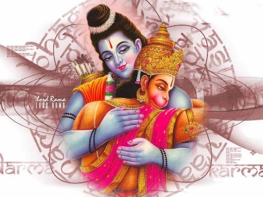 Lord Hanuman Ji With Ram Ji Full HD Wallpaper