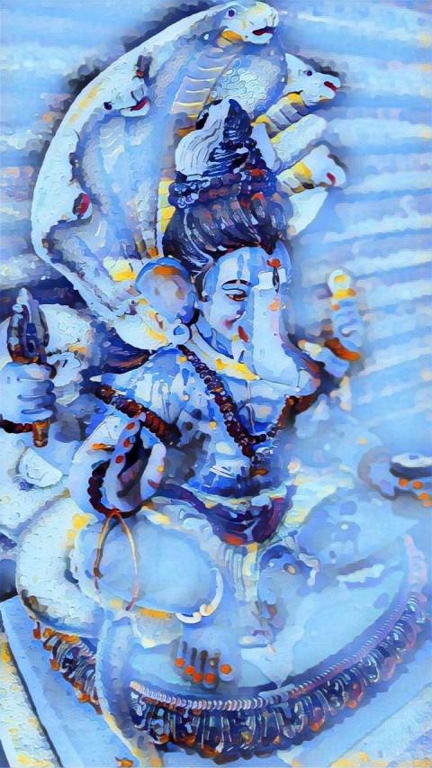 Murti Lord Ganesha Wallpaper Photo
