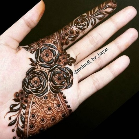 New Style Front Hand Mehndi Design  Pic