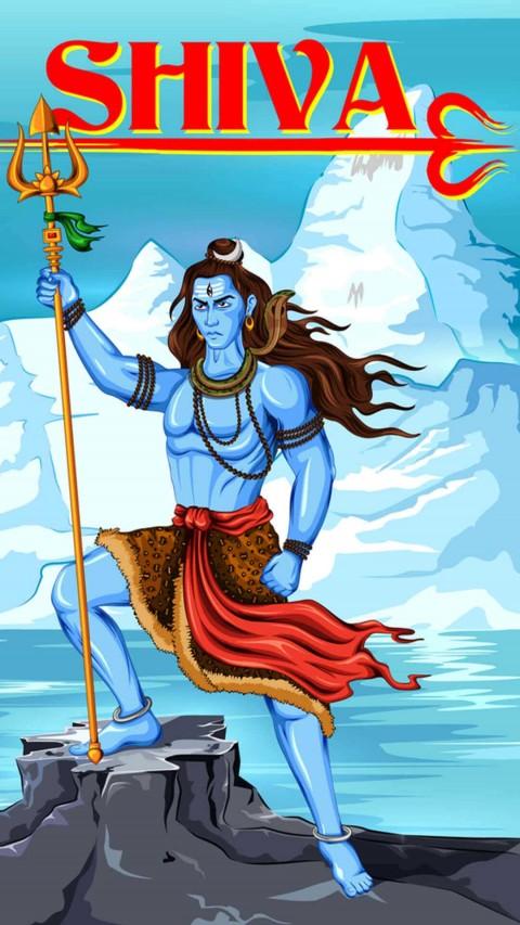 Paint Mahadev Wallpaper Download