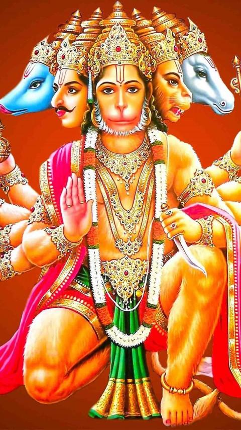 Panchmukhi Bajrangbali Hanuman Wallpaper Hd