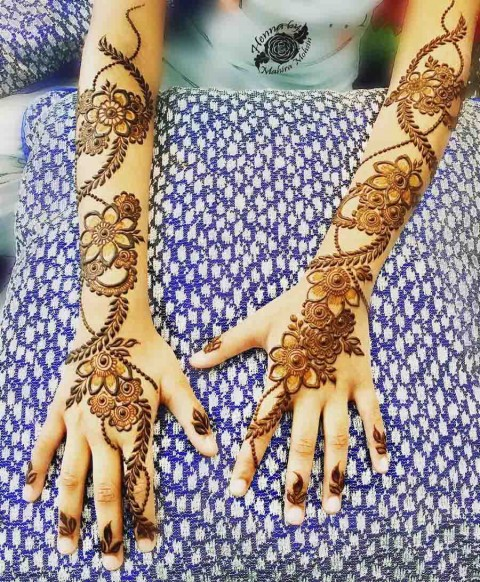 Simple Easy Full Hand Mehndi Design Full Hd Wallpaper Photo Images