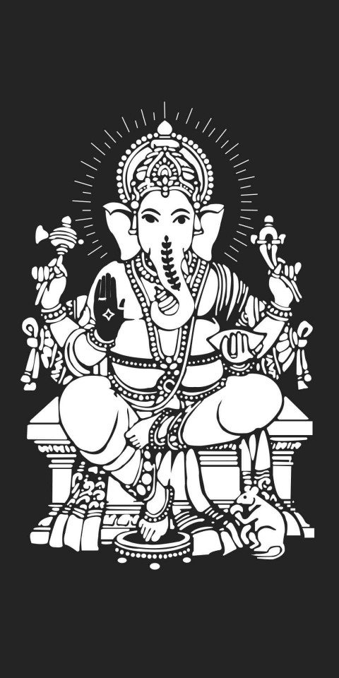 Uniqe Lord Ganesha Wallpaper Photo